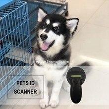RFID animale Microchip Lettore di FDX A/FDX B/HDX standard 125 khz/134.2 KHz Ear Tag chip di vetro portatile veterinari dog Pet ID Scanner