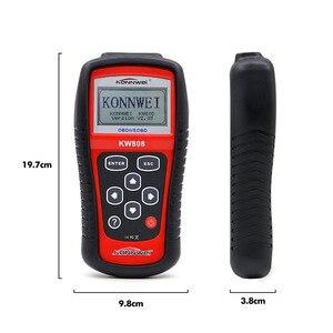 Image 3 - KONNWEI KW808 OBD2 רכב תקלת קוד Reader סורק רכב כלי אבחון OBDII קוד קורא