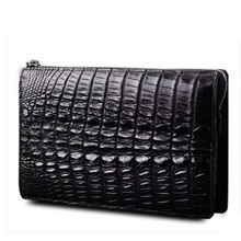 heimanba Crocodile handbag  Men's leather handbag  Business leather wallet large capacity crocodile men clutch bag