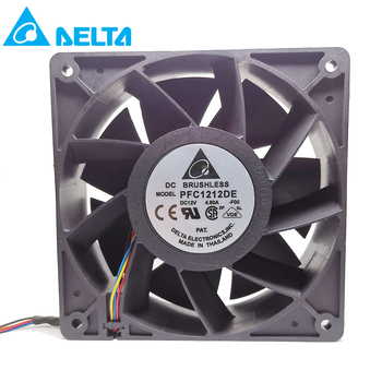Original for delta PFC1212DE For Bitcoin GPU miner powerful cooling fan 120*120*38mm 12V PWM 4-pin 252.8 CFM 5500 RPM66.5 dB(A) new original ebm papst dv4118 2npu dc48v 0 46a 120 120 38mm 12cm ip54 cooling fan typ4118n 6xmv 4 5w typ4118n
