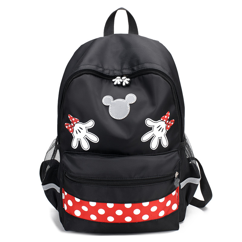 2019 Disney Minnie Large Capacity Plush Backpacks Mickey Mouse Fashion Student Schoolbag Women Bags Girl Travel Packet