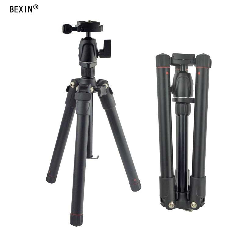BEXIN MS12 poids léger Portable professionnel caméra trépied monopode aluminium rotule compacte pour appareil photo reflex numérique DSLR