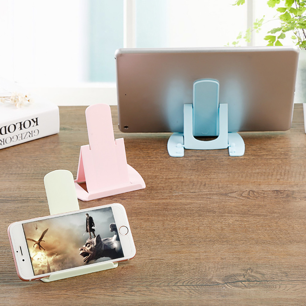 Fast delivery Phone Holder Foldable Cellphone Support Stand for iPhone X Tablet Samsung S10 Adjustable Mobile Smartphone