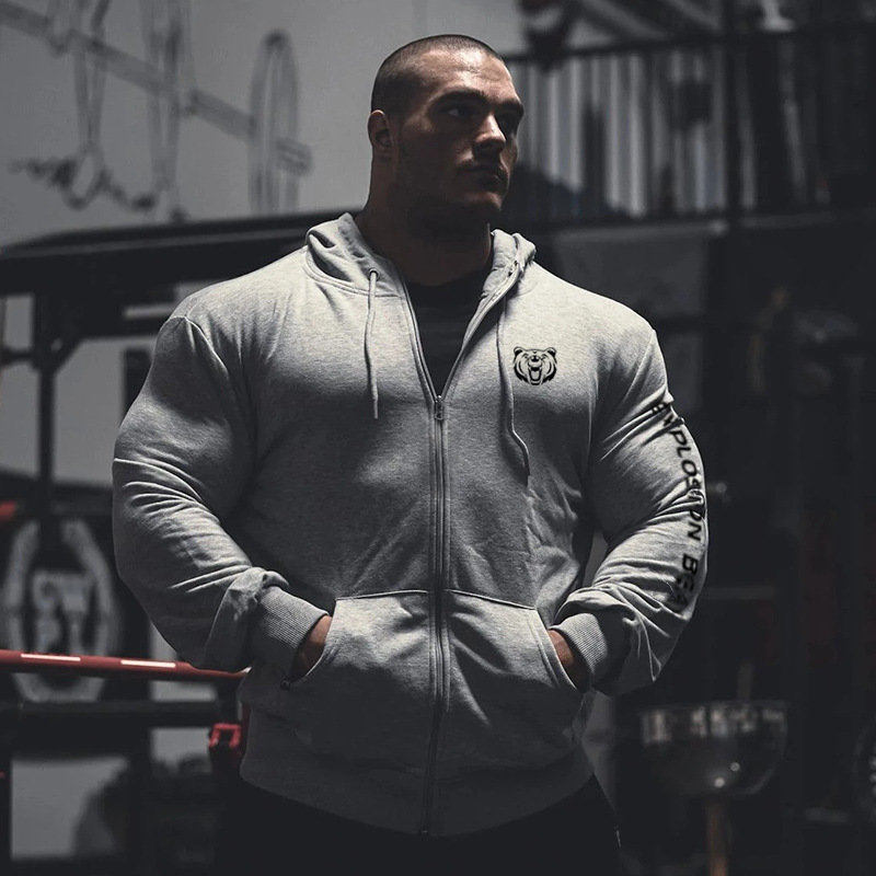 Mens Hoodies Sweatshirt 2019 Streetwear Fashion fitness Hoody Pullover Casual Hoodie Men Winter zipper Sweatshirts Gyms Clothing