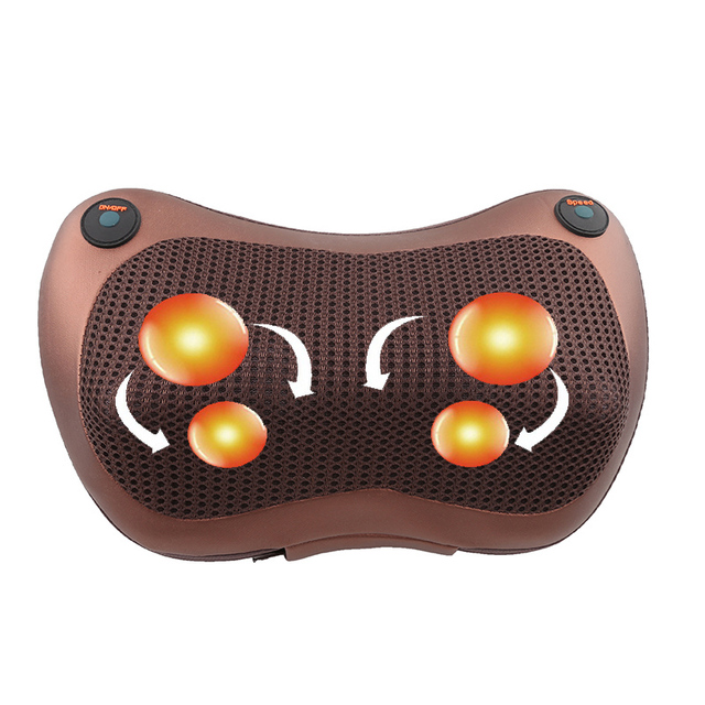 Relaxation Massage Pillow Vibrator Electric Neck Shoulder Back Heating Kneading Infrared therapy Massage Pillow 1