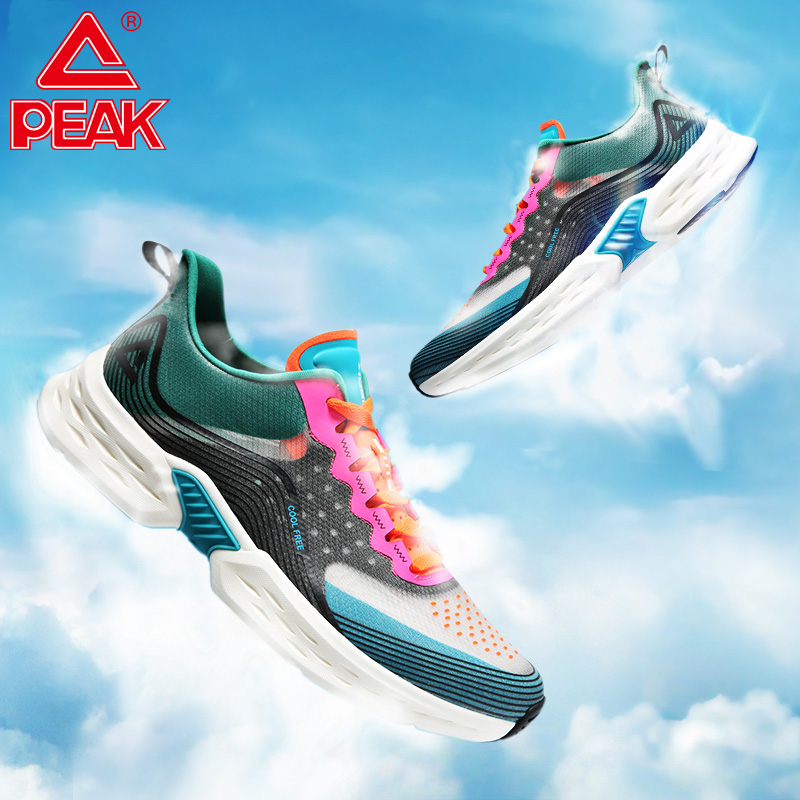 PEAK Ultra Light Running Shoes Super Lightweight Elastic Breathable Sneakers Non-slip Wearable Outdoor Athletic Sports Shoes