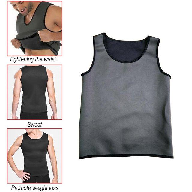 Hot sale Promotes weigh Sweat Sauna Body Shaper Men Vest Thermo Neoprene Trainer Sliming Waist Belt Durable And Comfortable Vest 4