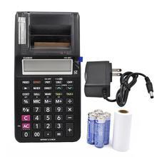 New Printing Calculator Hr-8rc Battery And Dc Dual-purpose Desktop Leather Dual Power 12-digit Arithmetic Scientific Calculator