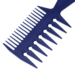 Image 4 - Professional Double Side Tooth Combs Fish Bone Shape Hair Brush Barber Hair Dyeing Cutting Coloring Brush Man Hairstyling Tool
