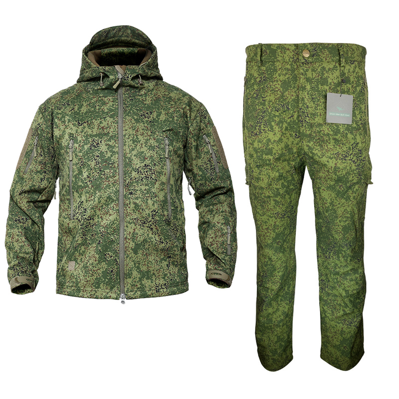 Mege Brand Russion Camouflage Tactical Military Uniform Outdoor Winter Working Clothing Fleece Warm Jacket and Pants Windproof