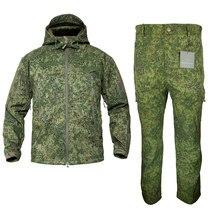 Mege marca russion camuflagem tático uniforme militar ao ar livre inverno roupas de trabalho velo quente jaqueta e calças à prova vento