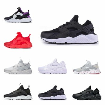 Hot sale running shoes 4.0 1.0 men women shoes Triple White Black Red Grey Huaraches Mens Trainers Sports Sneakers 36-45 vans authentic grey canvas mens trainers