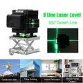 8 линий 3D лазерный уровень Зеленая лазерная линия самонивелирующийся 360 градусов Горизонтальные и вертикальные поперечные линии с батареей...