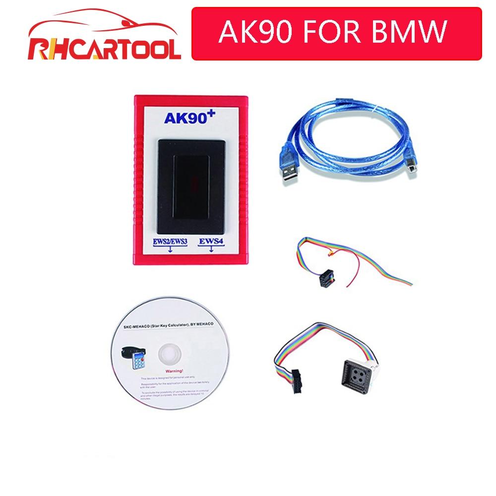 2017 OBD2 AK90+Programmer Bluetooth Diagnostic ELM327 Scanner Tool for Car BMW