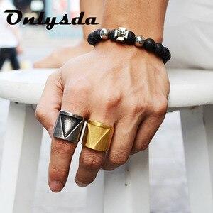 Кольцо из нержавеющей стали Viking triangle love, винтажное Ретро панк ювелирное изделие, подарок на палец, обручальное кольцо, Прямая поставка, OSR067