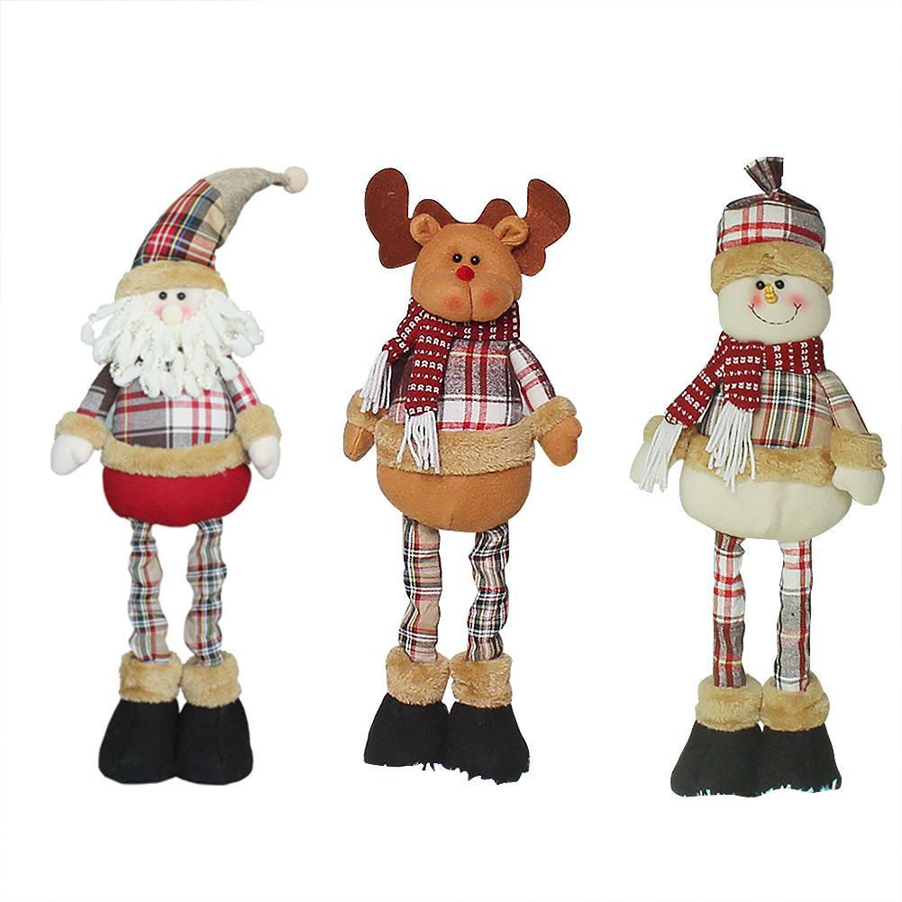 2020 muñecas de Navidad Santa Claus Elk muñeco de nieve Juguetes De pie figuras de navidad regalo de Navidad para niños adorno de árbol de Año Nuevo Conjunto de juguete Retro con luz eléctrica, adornos para tren con pista eléctrica de vía férrea, Conjunto Clásico de juguetes para niños, regalos de Navidad y Año Nuevo