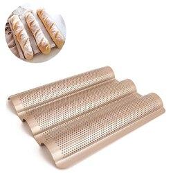 3-فتحة غير عصا الذهبي خبز باجيت صينية رغيف قالب الفرنسية الخبز عموم خبز أدوات