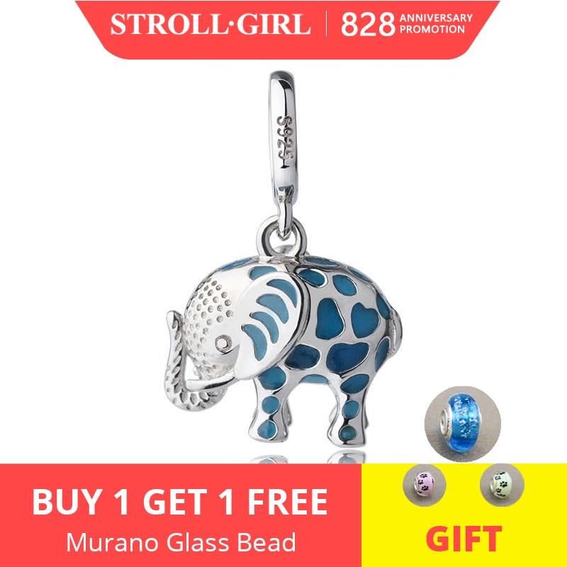 Pandora Bracelet Pendant Beads Charms-Fit Gift Animal Elephant 925-Silver Jewelry DIY