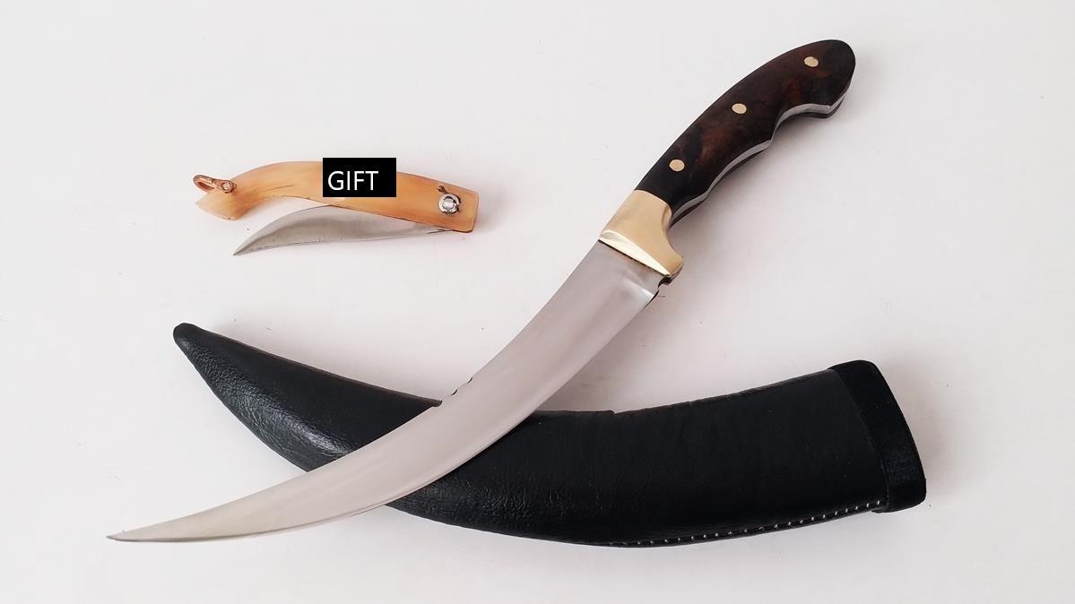 Ручной работы из орехового дерева руд качество кинжал небольшой карман Ножи и кожа ювелирные изделия Ножи ножны подарок английский сделано KNC AV 42|Ножи| | АлиЭкспресс