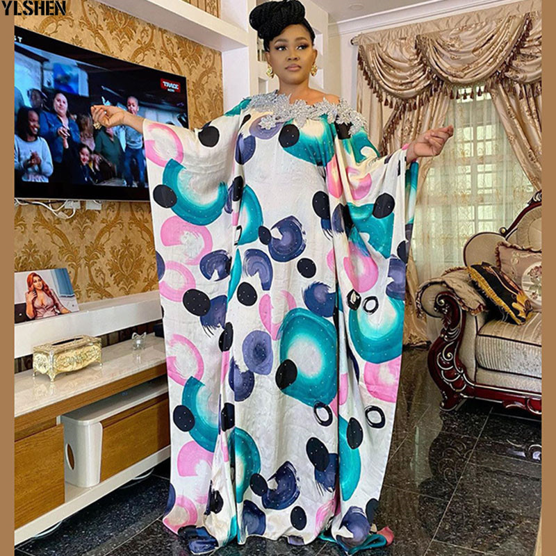 African Dresses For Women Dashiki Long Maxi Dress Plus Size 2020 Summer Dress Ladies Traditional African Clothing Fairy Dresses