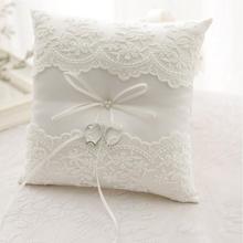 Европейский лук Подушка Свадебный декор кольцо Подушка романтические вышитые цветы