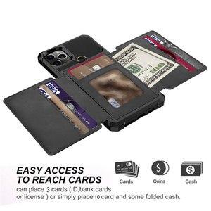 Image 2 - Para o iphone 11 pro x xr xs max caso, wefor cartão de crédito luxo dinheiro carteira kickstand volta caso para iphone 6s 7 8 plus telefone capa