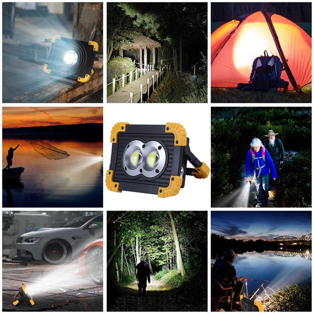 Led Tragbare Scheinwerfer 6000lm Super Helle Led Arbeit Licht Wiederaufladbare für Outdoor Camping Lampe Led Taschenlampe durch 18650