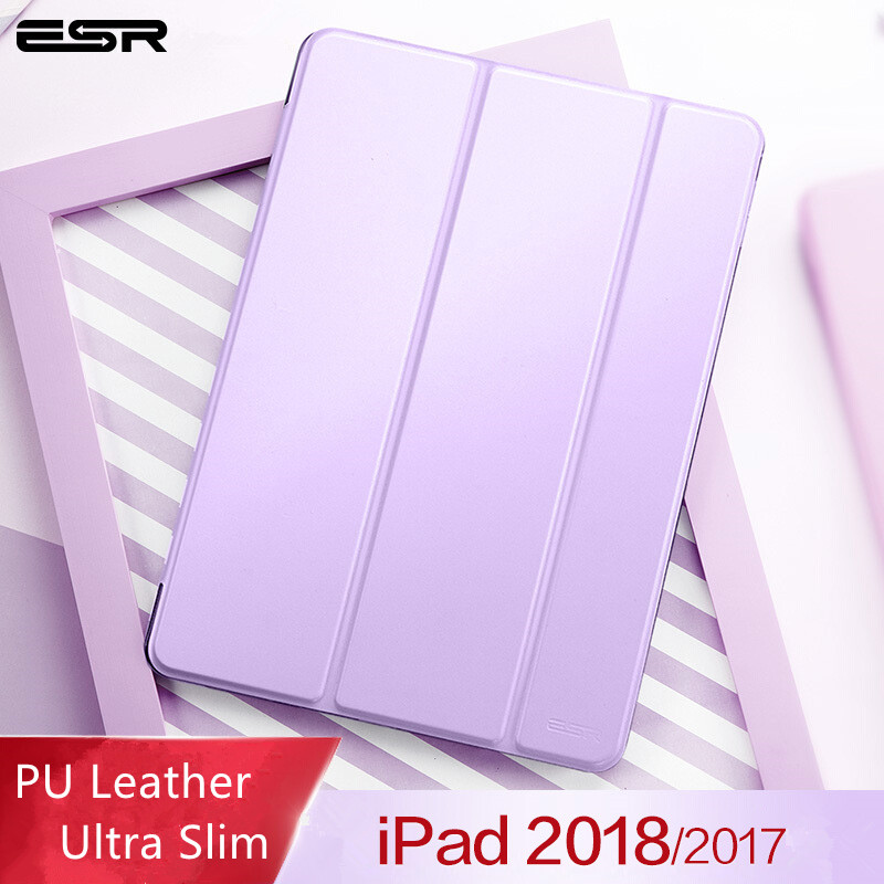 Case For IPad 9.7 Inch 2018 Cover,ESR Yippee Color Ultra Slim PU Leather Auto Sleep Case For New IPad 9.7 Inch 2017&2018 Release