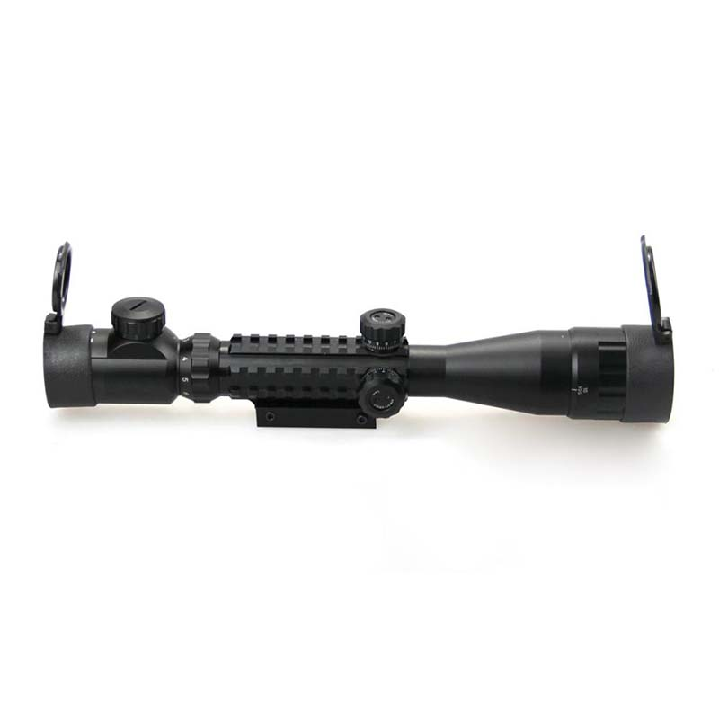 Hunting Optics C3-9X40AOEG Tactical Rifle Scope Red And Green Illuminated For Paintball Airsoft Gun Hunting