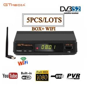 5PCS DVB-S2 GTmedia V7S HD Digital Decoder 1080P GT media v7s hd freesat v7s TV receptor Spain warehouse no app included
