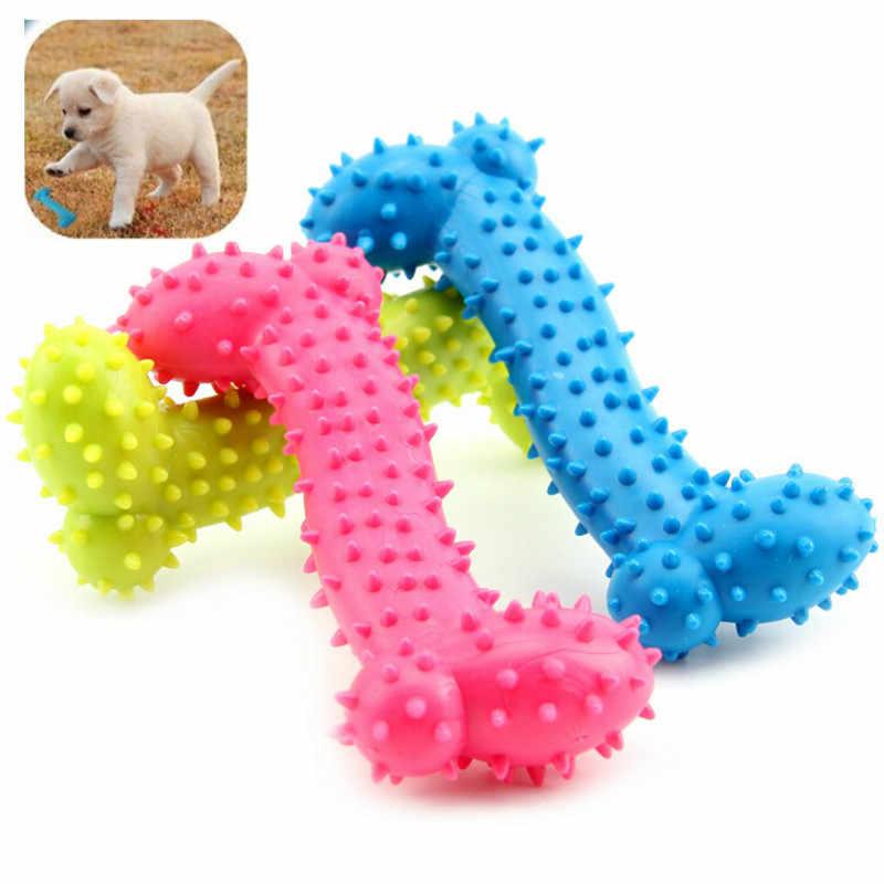 Zabawki dla psów guma odporna na ugryzienie kości pies zęby trzonowe szczeniaka gumowa piłka zagraj w nauka mycia zębów termiczna plastikowa zabawka dla zwierząt