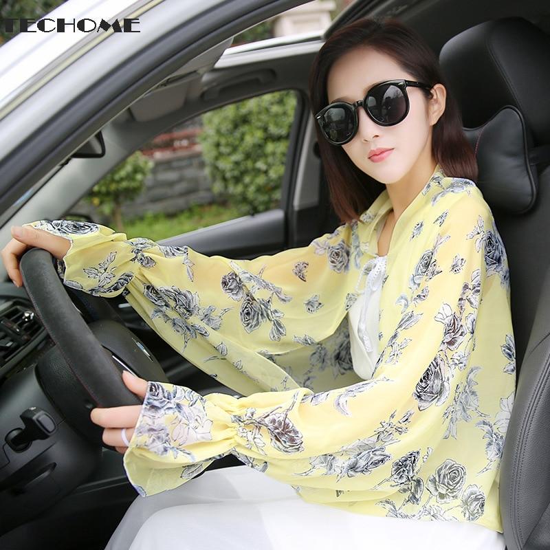 Women Summer Chiffon Shawls Wraps Driving Sunscreen Scarves Poncho Sun Protection Shawl Beach Shawl Bikini Cover Pashmina
