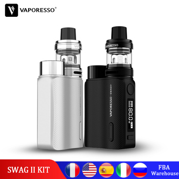 Original Vaporesso Vape SWAG 2 Kit with Box TC Mod NRG PE Tank 3.5ml Atomizer GT Coil Core Vapour Electronic Cigarette цена 2017