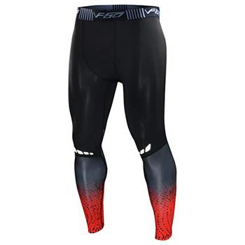 Męskie Gym legginsy uciskowe sportowe spodnie treningowe męskie rajstopy do biegania spodnie męskie odzież sportowa suche spodnie do joggingu tanie i dobre opinie CANGHPGIN Poliester spandex CN (pochodzenie) Pasuje prawda na wymiar weź swój normalny rozmiar Drukuj Mens Running Tights