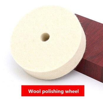 цена на 4 Inch Wool Polishing Buffing Grinding Wheel Polisher Disc Pad For Car Polisher Auto Accessories Polishing Polisher Pads    80mm