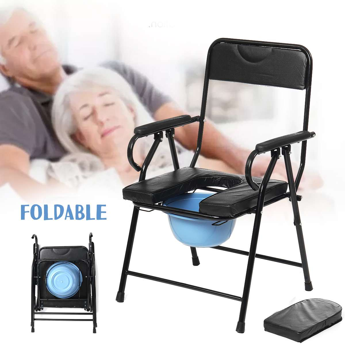Pregnant Women Disabled Seniors Toilet Chair Elderly Stool Toilet Folding Toilet Chair