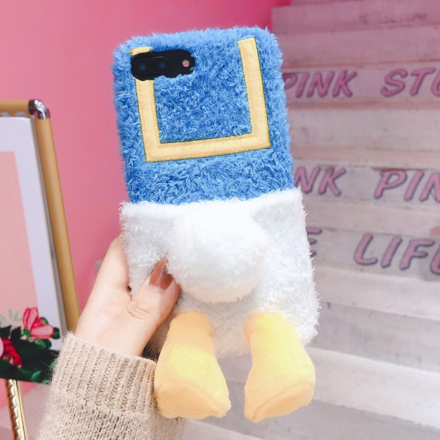 Donald Duck Plush Phone Case