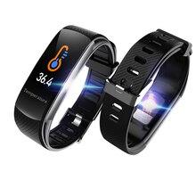 C6T Bracelet intelligent montres Bracelet de température corporelle IP67 étanche moniteur de sommeil Fitness santé Tracker bluetooth Smartband