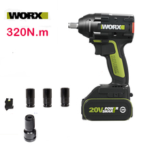 Impact-Wrench Electric WU279 Worx 20v Brushless Max-Torque for Car-Wheel Assemble 320n.m