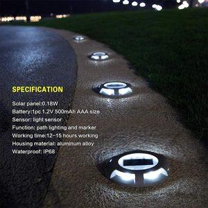 Image 2 - Уличный водонепроницаемый фонарь на солнечной батарее, садовый наземный светильник для безопасности, для ступенек, тротуаров, лестниц, садовых наземных дорожек, Прямая поставка