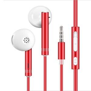 Проводные наушники с басами, стерео спортивные музыкальные наушники с микрофоном, проводная гарнитура для Xiaomi Huawei Redmi Samsung Phone