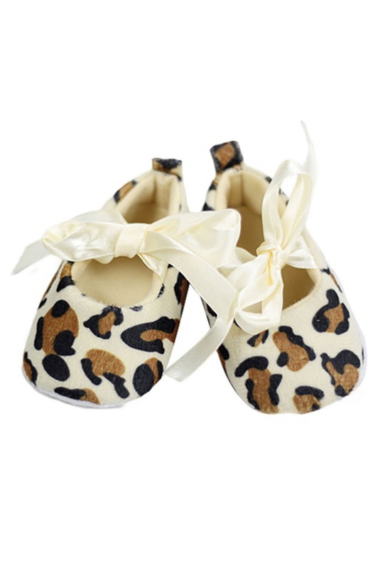 Baby Girl Toddler Leopard Soft Sole Walking Shoes Newborn (12-18 Month)