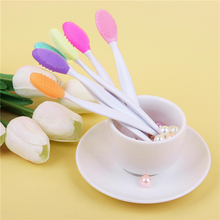 Soft Handheld Silicone Face Nose Care Clean Brush Exfoliator Blackhead Removal Facial Cleansing Massager Brush Tools Skin Care mini portable silicone face cleansing brush nose blackhead removal cleaner facial cleansing brush face skin care