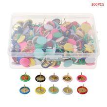 300pcs Home Office Drawing Pins Pushpin Thumbtack Cork Board Push Pin Photo Wall Map Markers Mixed Color