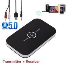 B6 receptor transmissor bluetooth adaptador de áudio sem fio para pc tv fone de ouvido do carro com 3.5mm 3.5 aux receptor música remetente