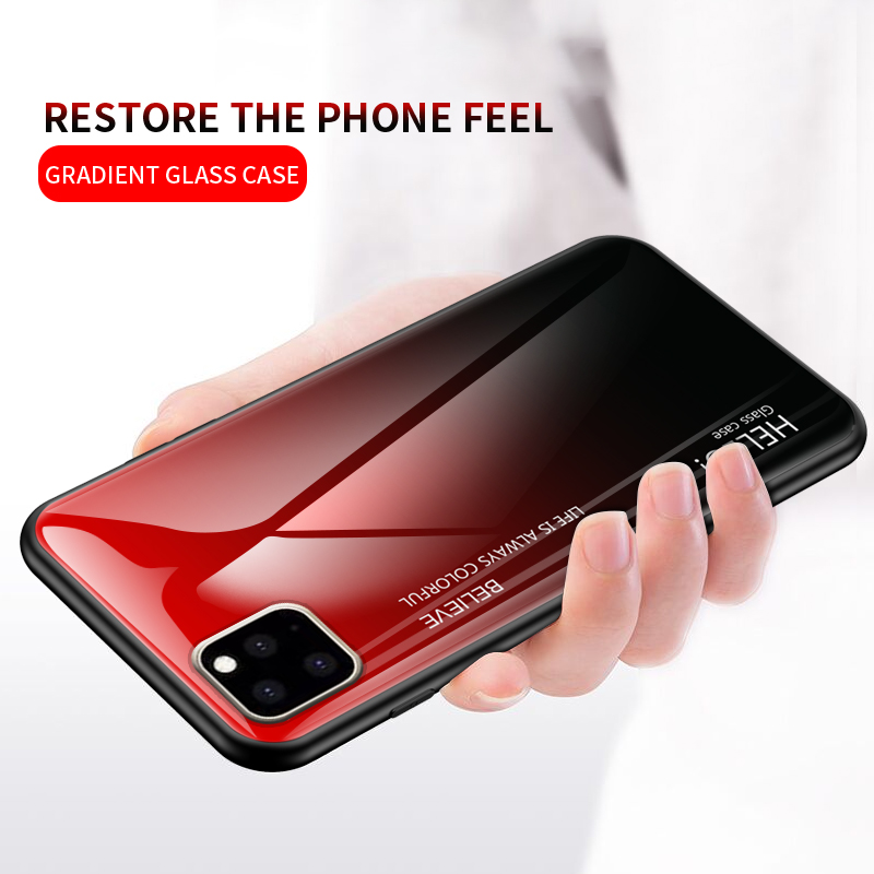 Ollyden Gradient Tempered Glass Cases for iPhone 11/11 Pro/11 Pro Max 2