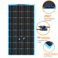 xinpuguang Flexible Portable ETFE Solar Panel 100w 12v Battery charger Kit Mono RV pv for 1000w System Boat Car Camping travel