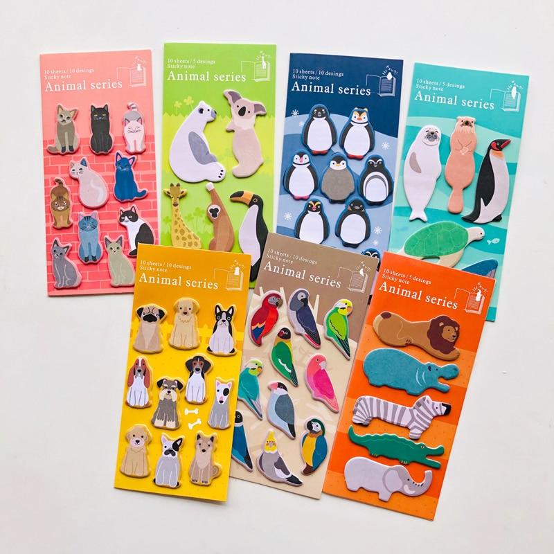 1X Kawaii Penguin Cats Dogs Zoo Animals Memo Pad Sticky Notes Notepad