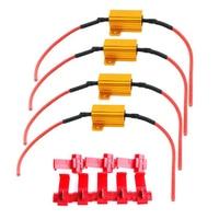 LED 자동차 라이트 저항 25W 6ohm 부하 저항 자동차 방향 지시등 플래시 액세서리 부하 표시기 신호, 2 개
