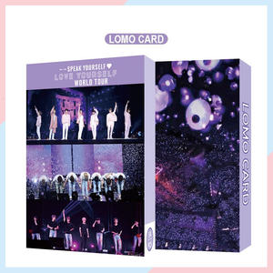 Paper-Card Poster Album Speak Yourself 54PC Kpop Boys Lighes/boys with Luv Self-Made